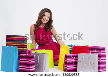Beautiful shopaholic