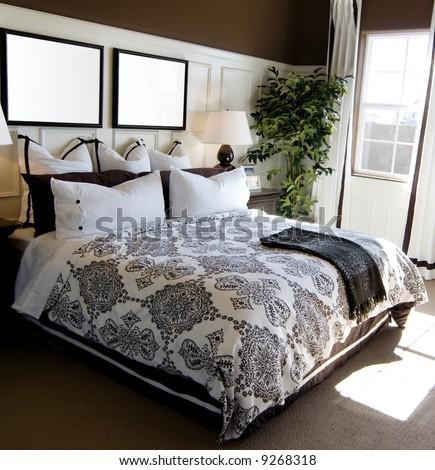 Beautiful showcase bedroom interior - stock photo