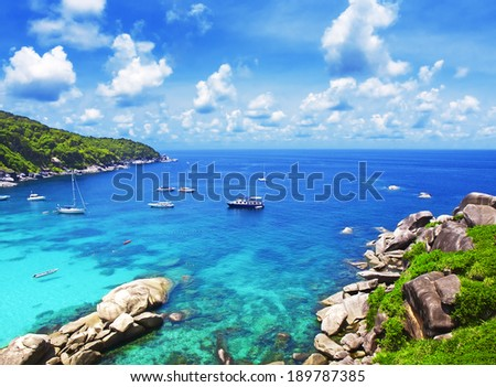 Beautiful Similan islands, Thailand, Phuket. - stock photo