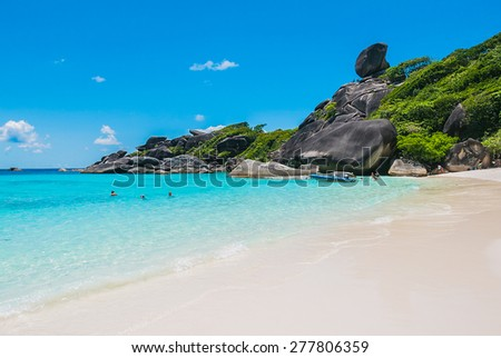 Beautiful Similan rock island at andaman sea in phuket Thailand