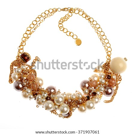beautiful single necklace isolated on white background