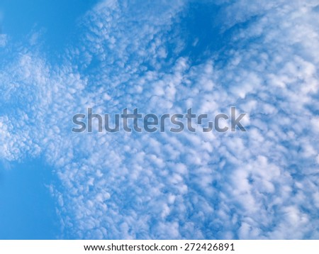 beautiful sky and cloud - stock photo
