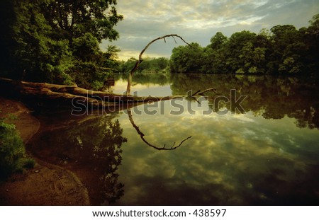 Beautiful Sky and water during sunset - stock photo