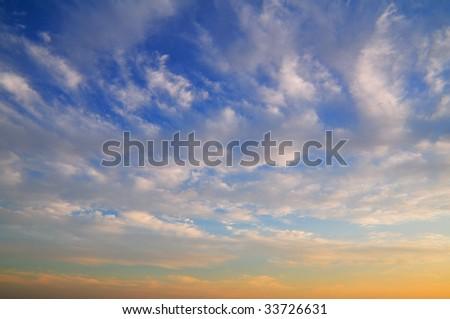 Beautiful Sky, at Sunset - stock photo