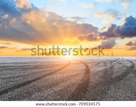 Beautiful sky cloud and asphalt road landscape