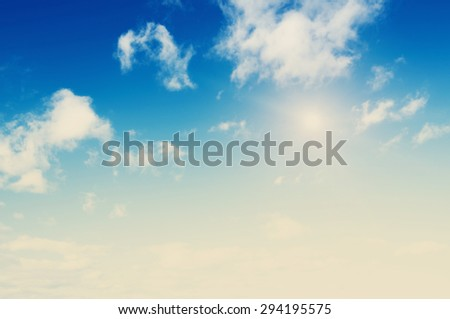 Beautiful sky morning. Summer background - stock photo