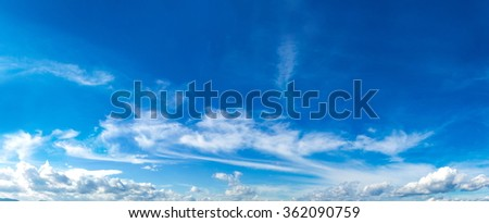 Beautiful sky panorama in a summer day - stock photo