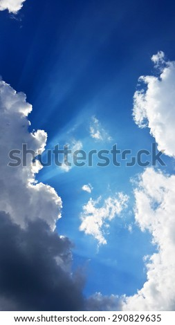 Beautiful sky view - stock photo