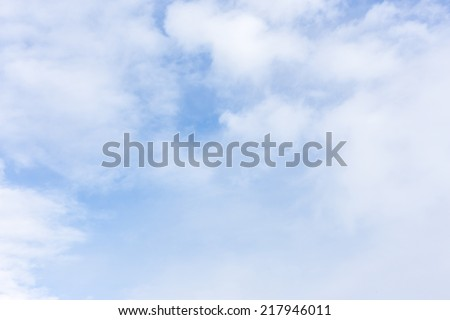 Beautiful sky with clouds for background. - stock photo