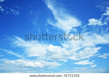Beautiful sky with some clouds - stock photo