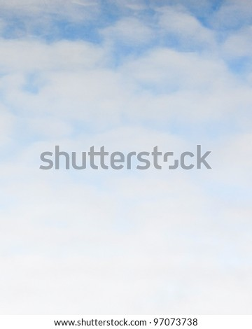 Beautiful sky with space for text - stock photo