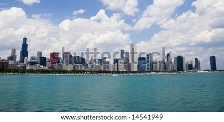 Beautiful skyline of Chicago on a nice day.