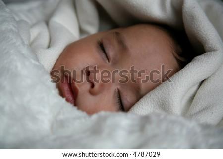 Beautiful Sleeping Baby - stock photo