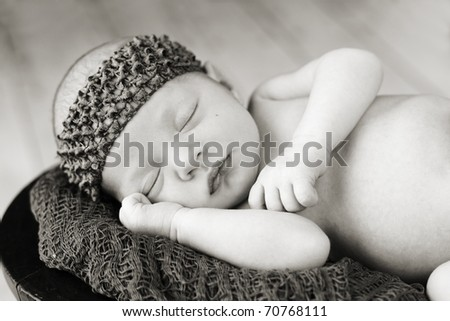 Beautiful sleeping newborn