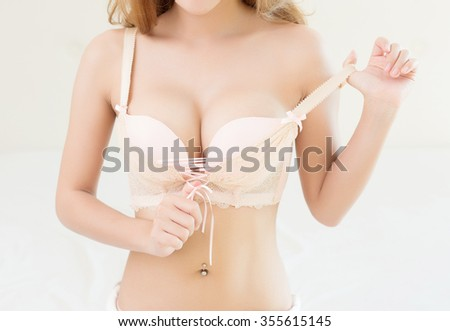 Beautiful slim body of woman - stock photo