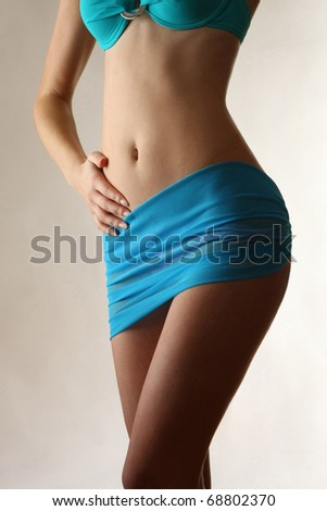 Beautiful slim female body - stock photo