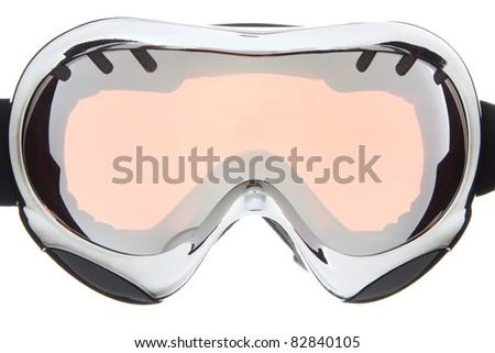 Beautiful sliver ski goggles - stock photo
