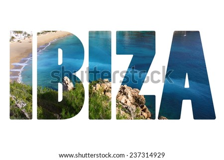 Beautiful small bay in Ibiza Spain - stock photo