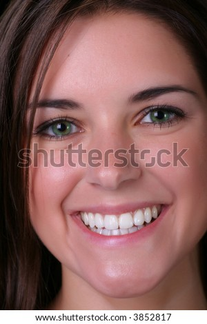 beautiful smile of the girl next door - stock photo