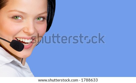 Beautiful Smiling Agent - stock photo