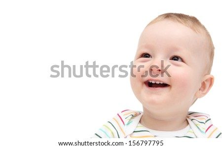 beautiful smiling baby - stock photo