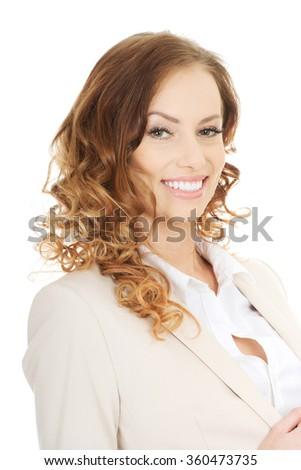 Beautiful smiling businesswoman. - stock photo