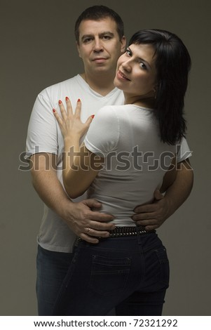 Beautiful smiling couple - man and woman
