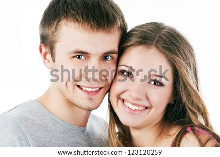 Beautiful smiling couple . Valentine's day