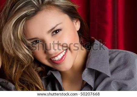Beautiful Smiling Hispanic Girl - stock photo