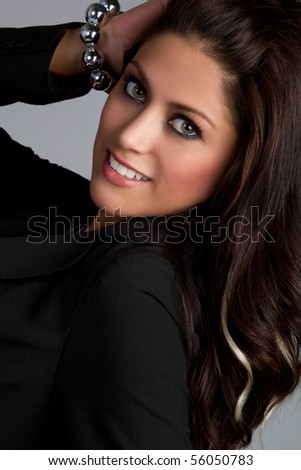 Beautiful smiling latin woman - stock photo