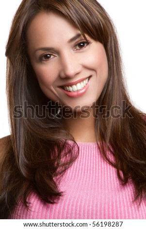 Beautiful smiling latin woman portrait - stock photo