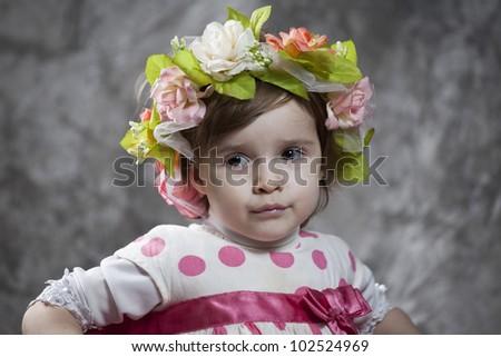 Beautiful smiling little girl - stock photo