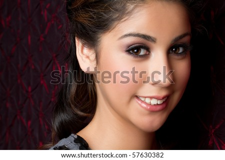 Beautiful smiling young woman - stock photo