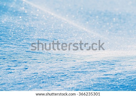 Beautiful snow background, shiny snowy wallpaper, frosty weather, beauty of winter nature, sunny day, icy surface - stock photo