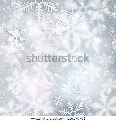 Beautiful snowflake Christmas background - stock photo