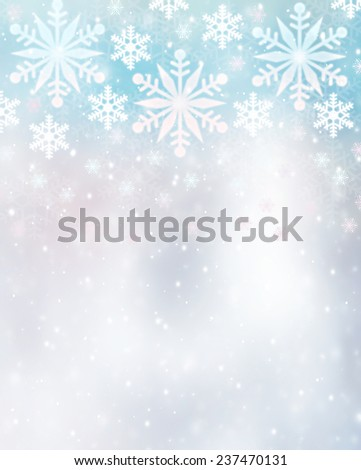 Beautiful snowflakes border on blurry background stock illustration beautiful snowflakes border on blurry background cute christmas greeting card with copy space festive m4hsunfo
