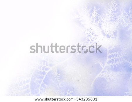 Beautiful soft hand drawn winter background  - stock photo