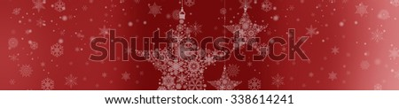 Beautiful soft red Christmas background. Xmas wallpaper.