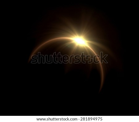 beautiful solar ring lens flare effect is simple to use add on background