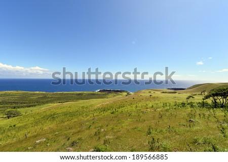 Beautiful south Haleakala National Park Maui Island Hawaii,Winding scenic road in southeast maui hawaii-6 - stock photo