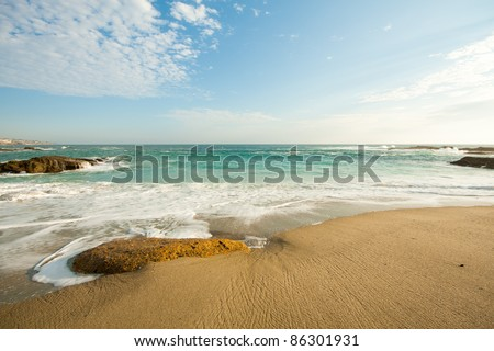 Beautiful southern California beach in a nice weather day - stock photo