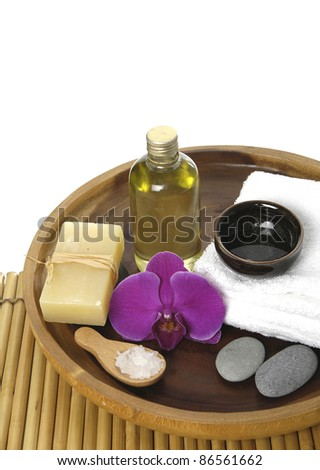 beautiful spa background. Natural Cosmetics - stock photo
