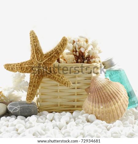 beautiful spa background. sea spa - stock photo