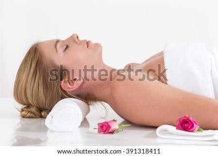 beautiful spa woman   - stock photo