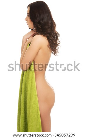 Beautiful spa woman with a towel.