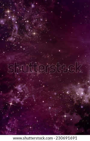 beautiful space background, night sky with stars