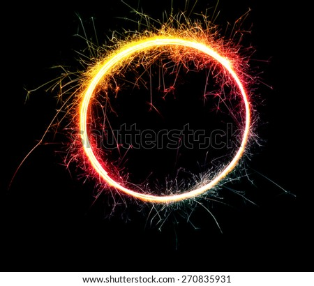 Beautiful sparkler on a black background