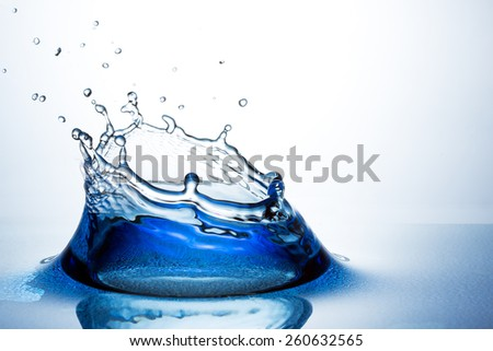 Beautiful splash of water - stock photo