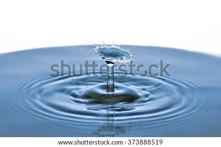 Beautiful splash of Water Drop. Freeze action. - stock photo