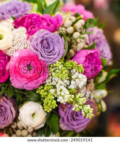 beautiful spring bouquet - stock photo